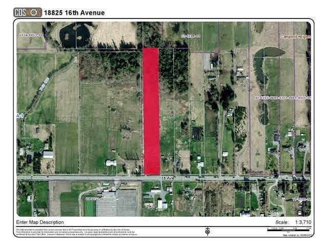 R2071714 - 18825 16 AVENUE, Hazelmere, Surrey, BC - House with Acreage