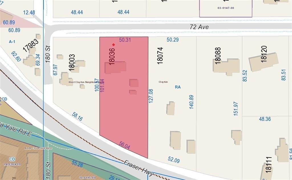 R2120234 - 18036 72 AVENUE, Clayton, Surrey, BC - House with Acreage